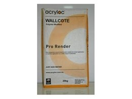 Wallcote Pro render cement based render available from Acryloc Building Products