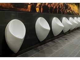 Watersave Australia's Uridan waterless urinals installed at Brisbane airport