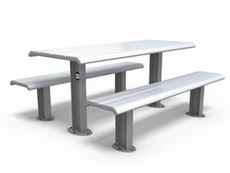 Why aluminium is the best material for street and park furniture