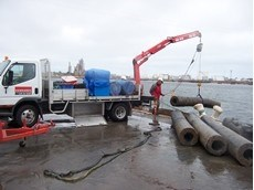 Winch hired from Kennards Lift & Shift perfect for port project