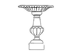 Winterstone's BB01 sandstone bird bath