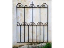 Wrought iron garden gate available from Farmweld