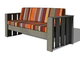 Xofa range of outdoor furniture available from Botton + Gardiner Urban Furniture