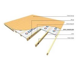 Using ExpolFloor insulation to stop cold drafts entering the home