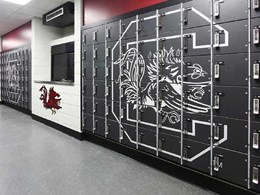 Wilsonart Custom Laminate on lockers provides secure solutions with custom appeal