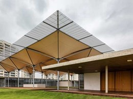 Rua Arquitetos designs unique rainwater collecting canopy for Rio 2016 Olympic Golf Course
