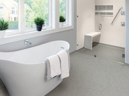 New Altro safety flooring featuring AltroBead technology for wet environments