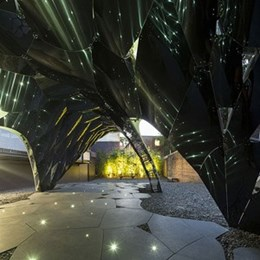 Futuristic pavilion by Sydney's AR-MA wins Fugitive Structures design competition [Video]
