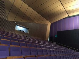 Timber slat system adapts perfectly for complex theatre interior