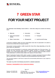 7 Green Star for your next project