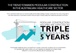 The trend towards modular construction in the Australian healthcare sector