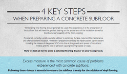 4 key steps when preparing a concrete subfloor