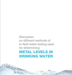 Discussion on different methods of in-field water testing used for determining metal levels in drinking water