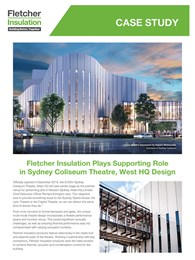 Fletcher Insulation plays supporting role in Sydney Coliseum Theatre, West HQ Design