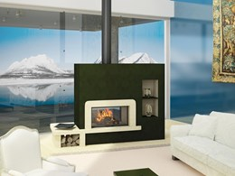 Double Sided fireplaces: an internal and external European heating system
