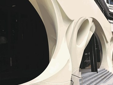 Shapeshell Advanced Composites Help Shape Colonnade At The