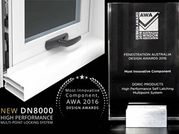Doric wins Most Innovative Component at AWA AusFenEx 2016
