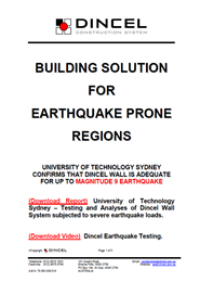 Building solution for Earthquake Prone Regions