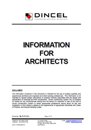 Information for Architects
