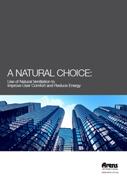 A natural choice: Use of natural ventilation to improve user comfort and reduce energy