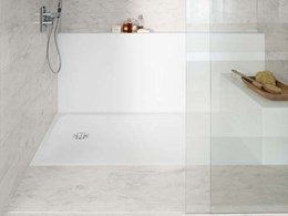 New Corian shower floors customisable to fit all bathroom styles