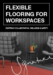 Flexible flooring for workspaces
