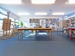 Altro heavy duty safety flooring installed at Worcester Sixth Form College art workshops