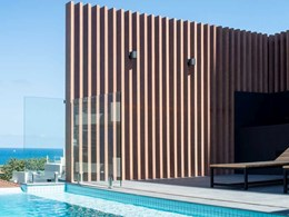 Timber look cladding and battens add coastal vibe to luxury apartments