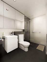 Sync pods enhance bathroom design at Central South Yarra apartments
