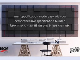 Specifying in 4 steps with Décor Systems' Specification Builder