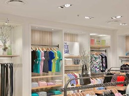 Sportscraft store uses Aglo downlights to showcase clothing