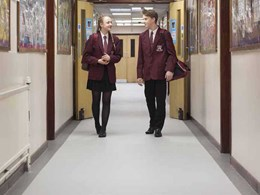 Busy school corridor gets the Altro protection