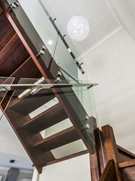 Now trending: Glass and stainless steel staircases