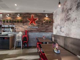 Exposed brick and cement finishes achieved with Beaumont tiles at Stellarossa Yarrabilba