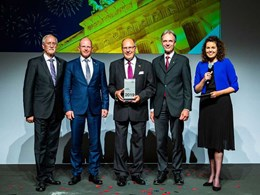 Dr Ulrich Stiebel honoured with the E-Markenpartner prize
