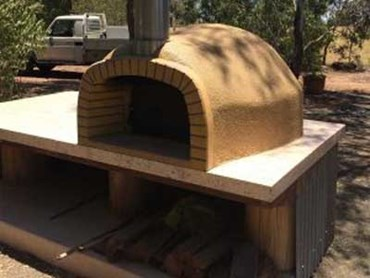 Concrete pizza oven featuring CCS Stylepave