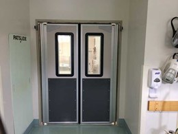 DMF traffic doors with laser shield windows installed in Sydney hospital's operating theatre
