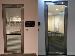 TPS stainless steel glass fire doors installed at CBA Melbourne