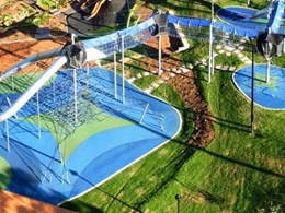 Rosehill TPV rubber surfacing keeps the action going at Tamworth Regional Playground