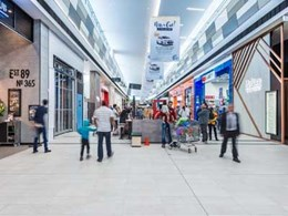 Surface Squared colour laminates meet design goals on shopping centre wall