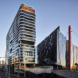 Contorting 720 Bourke Street Melbourne adds to Docklands skyline