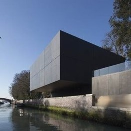 Denton Corker Marshall's black/white box complete: new Australian Pavilion at Venice Biennale