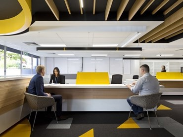 Wayfinding in brisbane tmr customer service centre by mode architects architecture and design Kitchen design centre brisbane