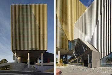 Woods Bagot take gold and silver louvres to new Deakin University building