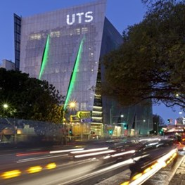 Aluminium binary code screen adorns new UTS building by Denton Corker Marshall