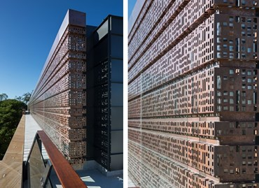 What's behind that copper screen? Goddard Building Rooftop Expansion by Conrad Gargett