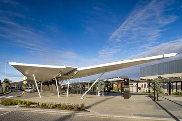 Woods Bagot designs floating winged canopies for Perth International Airport