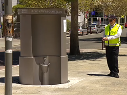 Public urinal pops-up in Perth