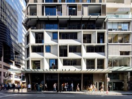 Creative concrete and louvre track technology aid Tony Owen Partners at The Castlereagh, Sydney