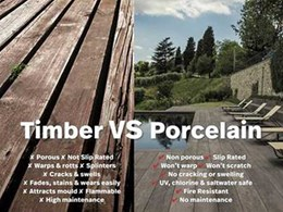 Why porcelain stoneware is better than timber for your walls and floors